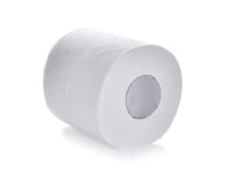 Toilet paper,tissue paper roll isolated on white background Royalty Free Stock Images