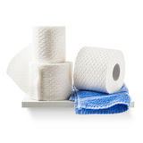 Toilet paper and towel Stock Image