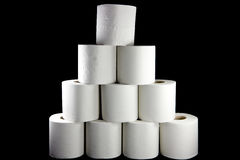 Toilet paper tower Stock Photography