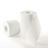 Toilet paper. Two-layer, soft toilet paper Royalty Free Stock Image