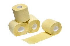 Toilet paper. On a white background Stock Image