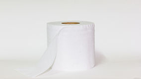 Toilet paper. On white background Royalty Free Stock Image