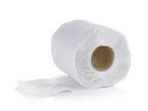 Toilet paper on white background royalty free stock photography