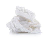 Toilet paper on white background royalty free stock photo