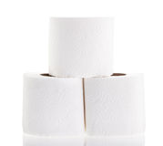 Toilet paper white Stock Images