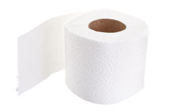 Toilet paper white Royalty Free Stock Images