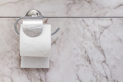 Toilet Paper in White Clean Bathroom Royalty Free Stock Image