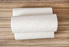 Toilet paper on the wooden background, hygiene theme Royalty Free Stock Images