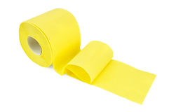 Toilet paper yellow Stock Image