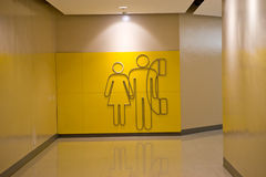 Toilet and Phone sign Royalty Free Stock Image