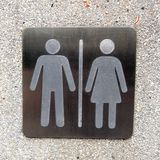 Toilet plate sign Royalty Free Stock Image