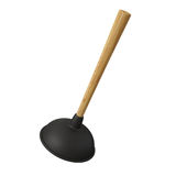 Toilet Plunger on White Background, Black Rubber Royalty Free Stock Photos