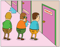 Toilet Queuing Royalty Free Stock Photos
