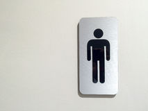 Toilet(restroom) men symbol at apartment store, public place, art design Royalty Free Stock Photo