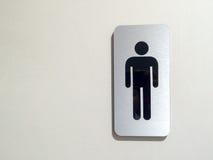 Toilet& x28; restroom& x29; mensensymbool bij flatopslag, openbare ruimte, kunstontwerp royalty-vrije stock foto
