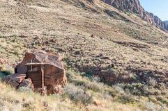 Toilet on the rim of the extinct Brukkaros volcano Stock Image