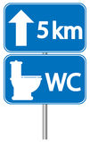 Toilet roadsign Royalty Free Stock Images