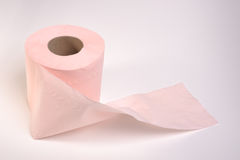 Toilet roll. Photograph of a toilet roll shot in studio  on a plain background Stock Images