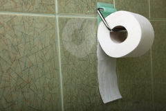 Toilet roll indoor convenience restroom Stock Image