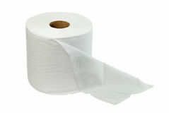 Toilet Roll. Isolate toilet roll on white background Royalty Free Stock Image