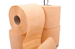 Toilet rolls Stock Photos