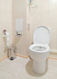 Toilet room interior. With white water-closet Stock Photo