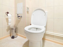 Toilet room interior. With white water-closet Stock Photography