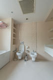 Toilet room in the modern Royalty Free Stock Photo