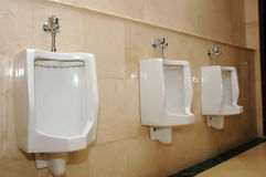 Toilet rooms. The toilet rooms for men Royalty Free Stock Photo