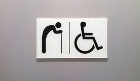 Toilet's sign. For older and disabilities Royalty Free Stock Photos