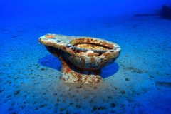 Toilet on the sea floor Royalty Free Stock Photography