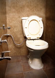 Toilet seat. Detailed shot of bathroom toilet seat Royalty Free Stock Images