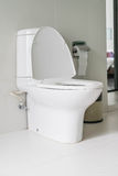 Toilet seat decoration in bathroom Royalty Free Stock Photography