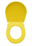 Toilet seat isolated - yellow. Yellow toilet seat isolated on white. Clipping path included Royalty Free Stock Photo