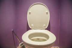 Toilet seat. In modern room Stock Photo