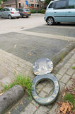 Toilet seat on the street Stock Images