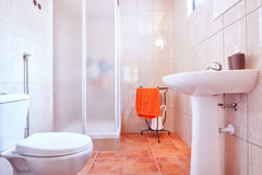 Toilet shower bathroom. Royalty Free Stock Photo