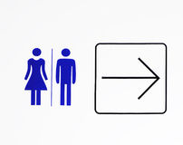 Toilet sign Royalty Free Stock Photos