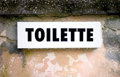 Toilet Sign. A sign with the word 'Toilette royalty free stock images