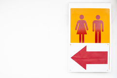 Toilet sign Stock Image