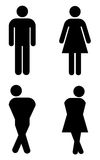 Toilet sign. With silhouettes like holding pee Royalty Free Stock Photography