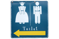 Toilet Sign. Man and woman on toilet sign Royalty Free Stock Images
