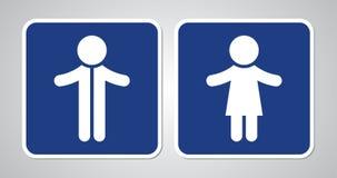 Toilet sign on blue background royalty free illustration