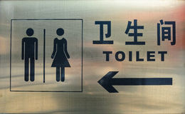 Toilet sign board Royalty Free Stock Photo