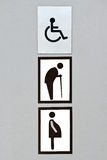 Toilet sign Stock Photography