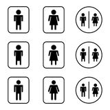 Toilet sign design icons set Stock Images