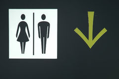 Toilet sign and direction Stock Photo