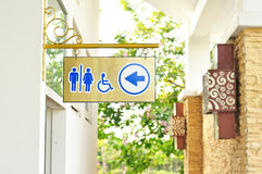 Toilet sign and direction Stock Photography
