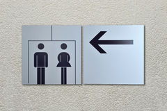Toilet sign and direction Royalty Free Stock Photography