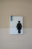 Toilet sign female Royalty Free Stock Photography